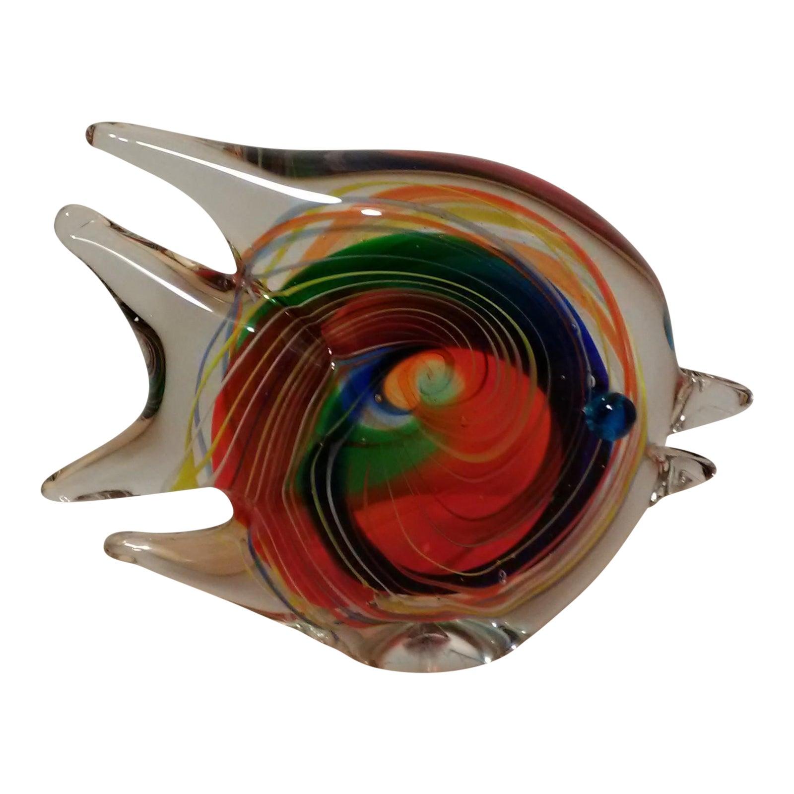 Murano Multi-Colored Art Glass Fish | Chairish