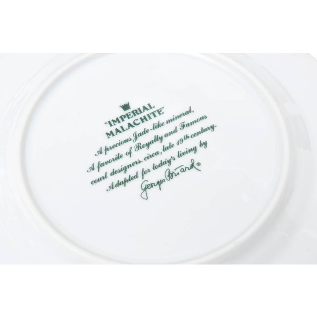 Georges Briard Imperial Malachite Porcelain China Service - Fnal Markdown For Sale - Image 9 of 10