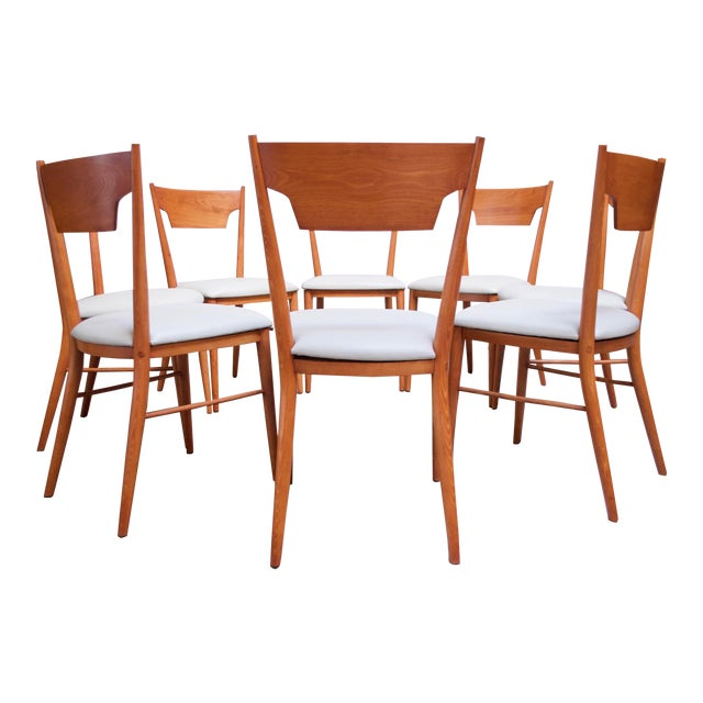 Stained Maple Dining Chairs by Paul McCobb for Perimeter - Set of 8 For Sale
