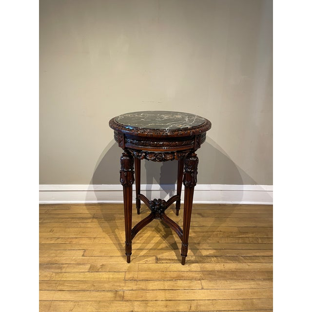 20th Century French Provincial Heavily Cured Side Table For Sale - Image 4 of 8
