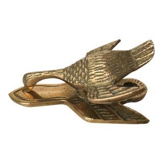 Vintage Brass Duck Desk Clip For Sale