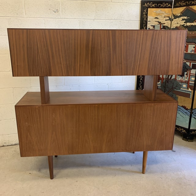 Svend Aage Larsen for Faarup Danish Modern Teak China Cabinet Bookcase Credenza For Sale - Image 9 of 11