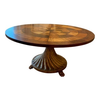 Walnut Inlay Coffee Table For Sale
