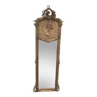 Goddess Relief Gilded Floor Mirror