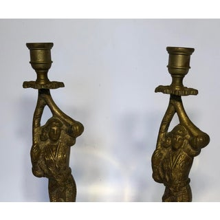 Brass Figural Candle Holders - A Pair Preview