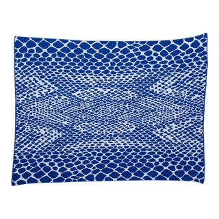 Recycled Cotton Snakeskin Throw Blanket