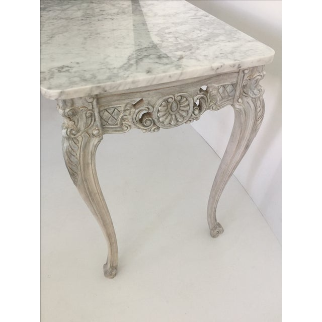 French Marble Topped Console Table - Image 4 of 6