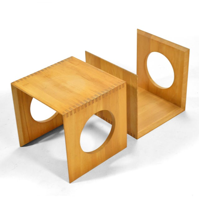 Danish Modern Jens Quistgaard Cube End Tables by Richard Nissen For Sale - Image 3 of 11