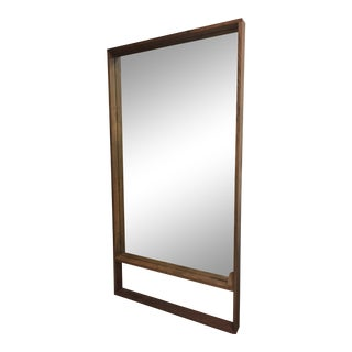 Modern Walnut Floor Mirror For Sale