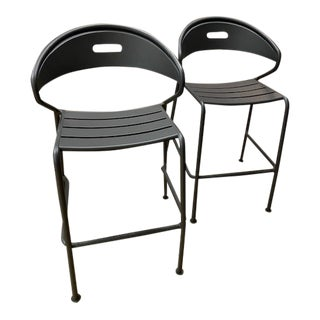 Gloster Curve Stacking Bar Chairs- A Pair For Sale
