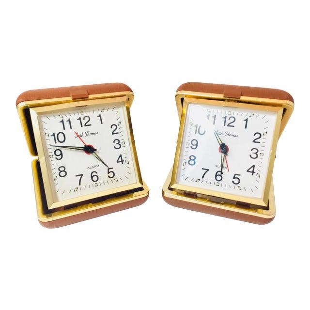 Vintage Seth Thomas Wind Up Travel Alarm Clocks Set Of 2 Chairish