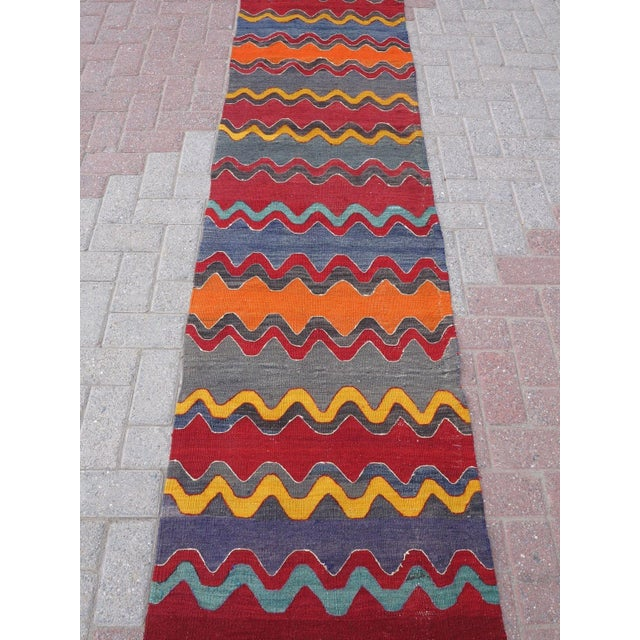 Vintage Turkish Oversized Kilim Runner - 2′2″ × 15′8″ - Image 5 of 11