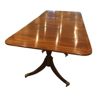 Three Pedestal Mahogany Expandable Dining Table