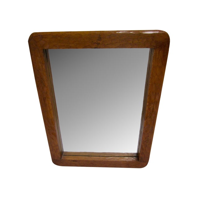 Rustic Carved Wooden Mirror - Image 1 of 10