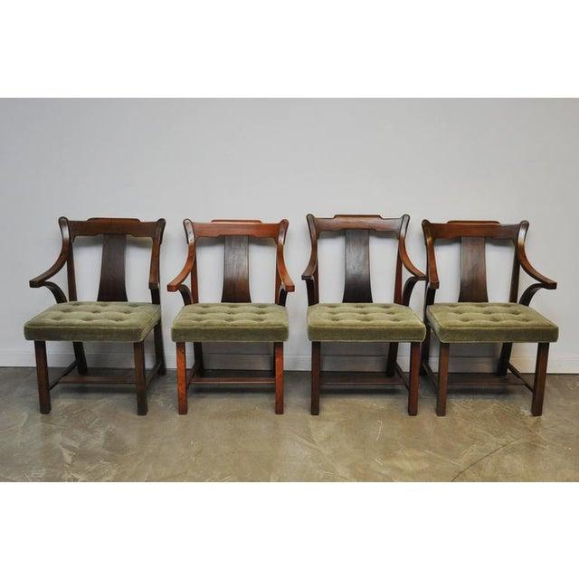 "Dunbar Set of Four ""Greene & Greene"" Chairs by Edward Wormley - Image 3 of 8"