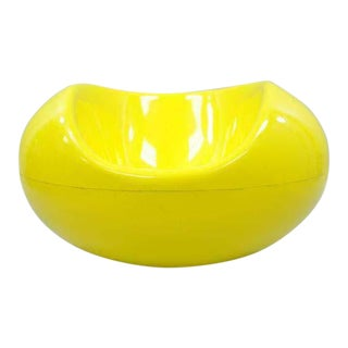1960s Vintage Eero Aarnio for Asko Yellow Fiberglass Pastille Pod Gyro Lounge Chair For Sale