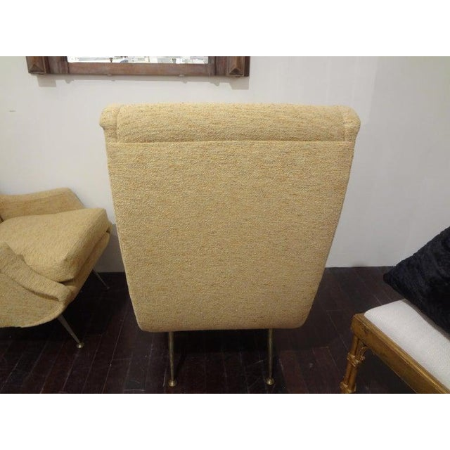 1960s Vintage Minotti Style Italian Modern Lounge Chairs- A Pair For Sale In Houston - Image 6 of 10