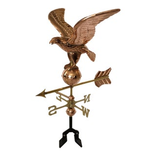 Copper Eagle Cottage Rooftop Weathervane by Good Directions Company For Sale