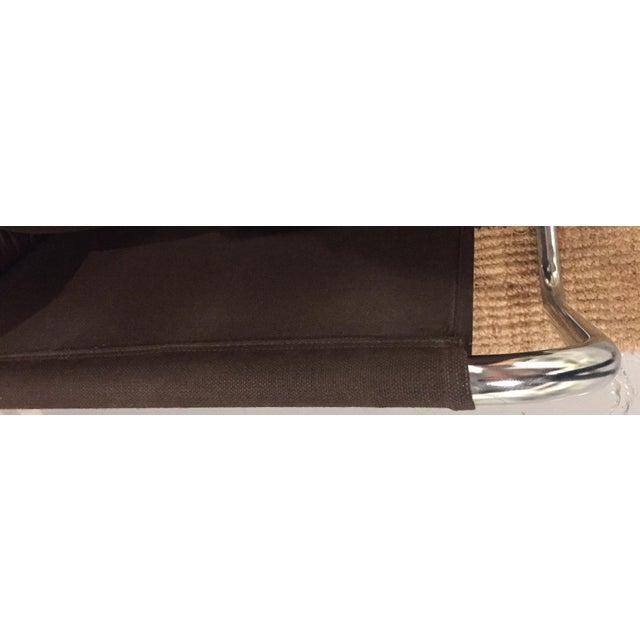 Mid-Century Leather & Tubular Chrome Loveseat - Image 5 of 5