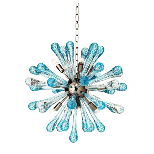 Contemporary Murano Glass Sputnik Chandelier Multicolor For Sale