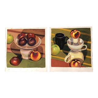 Gallery Wall Collection 2 Original Gouache Still Life Paintings For Sale