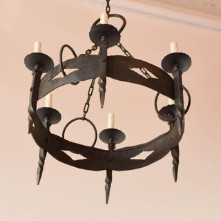 Round Iron Rustic Chandelier Preview