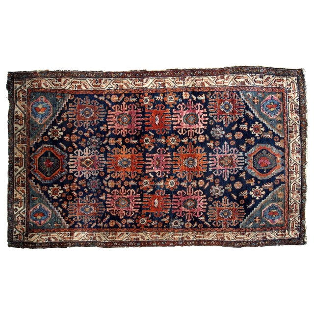 1910s, Handmade Antique Persian Malayer Rug 4.1' X 6.3' For Sale - Image 10 of 11