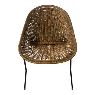 Wicker Chair Att. To Albini For Sale