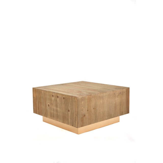 Square wood coffee table is the perfect combination of rustic and modern . Rustic meets modern. Made from unfinished wood,...