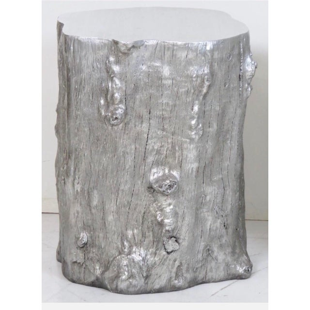 Silvered Tree Trunk Side Tables -- A Pair - Image 2 of 3