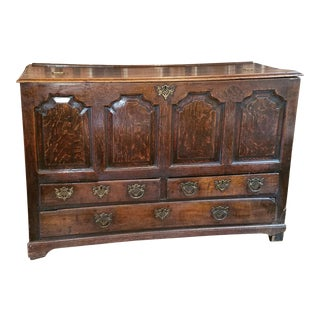 18th Century Georgian Oak Mule Chest For Sale