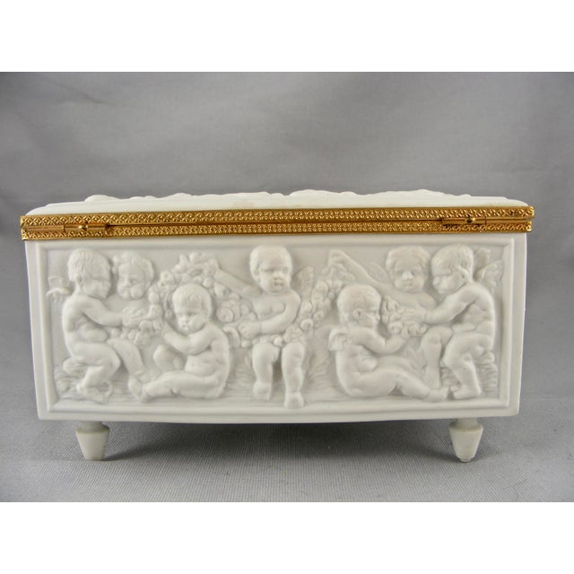 Limoges France White Bisque Dresser Box - Image 6 of 10
