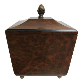 Modern Decorative Crafts Burlwood Tea Box For Sale