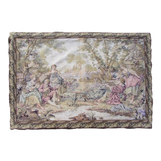 1930s, Aintique French Aubusson Tapestry 2.4' X 3.4' For Sale