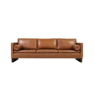 Leather Sofa by Mies Van Der Rohe for Knoll For Sale
