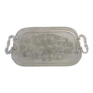 Dorothy Thorpe Style Lucite and Glass Tray For Sale