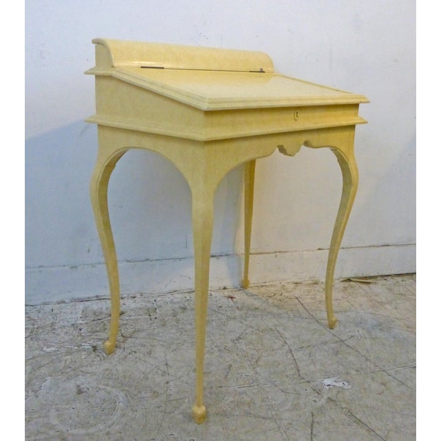 Creamy Lacquered Writing Desk - Image 7 of 8