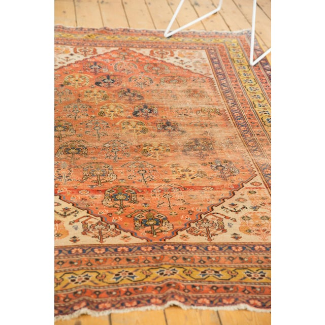 """Old New House Antique Qashqai Rug - 4'11"""" X 6'4"""" For Sale - Image 4 of 13"""