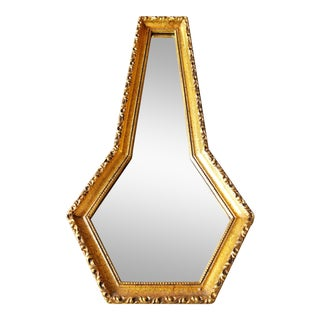 Vintage Abstracted Keyhole Mirror For Sale
