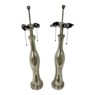 Speckled Large Table Lamps - a Pair For Sale