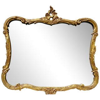 Italian Floral Gilt Ornate Gold Mirror