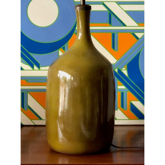 1960s Vintage Jacques & Dani Ruelland Ceramic Lamp For Sale - Image 11 of 12