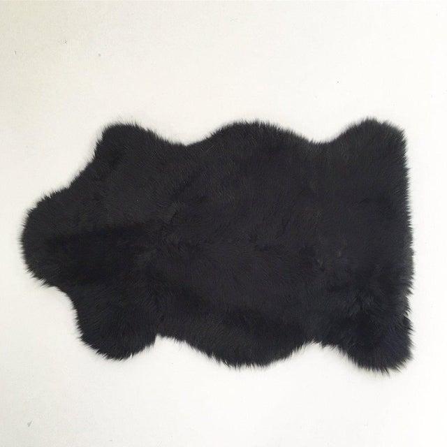 Black Sheepskin Rug - Image 2 of 4