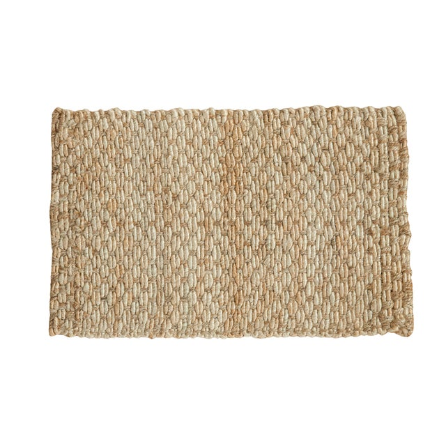 "Hand Braided Gold Entrance Mat - 2' X 3'2"" - Image 1 of 2"