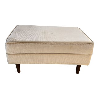 Midcentury Upholstered Ottoman Footstool For Sale