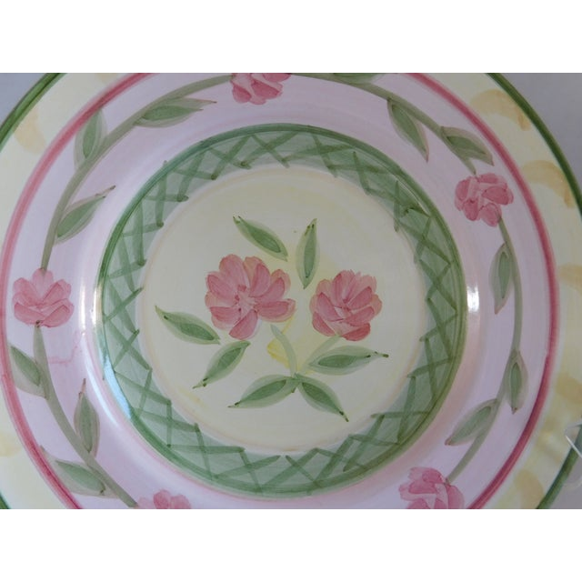 Boho Chic Service for 8 - Bella Ceramica Tuscan Pottery Dinnerware For Sale - Image 3 of 13