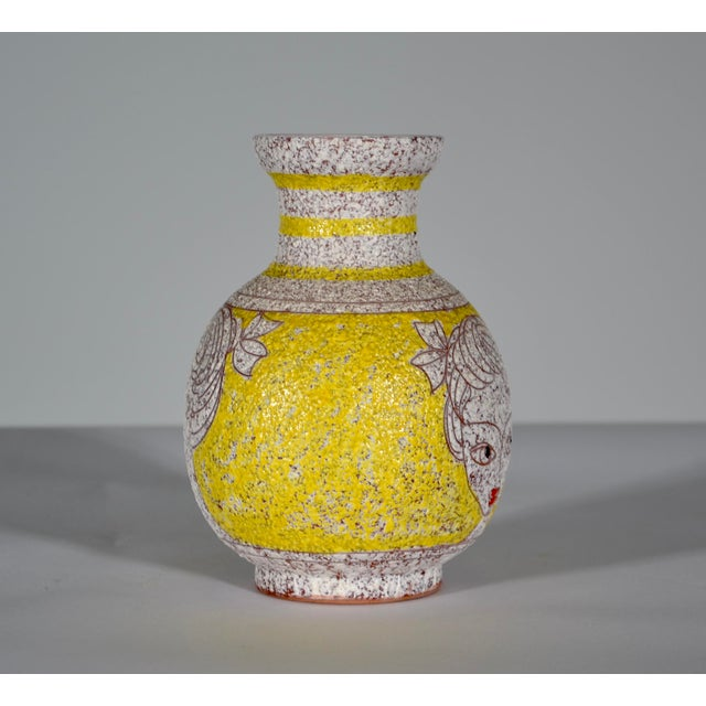Italian 1960s Vintage Italian Fratelli Fanciullacci Vase For Sale - Image 3 of 5
