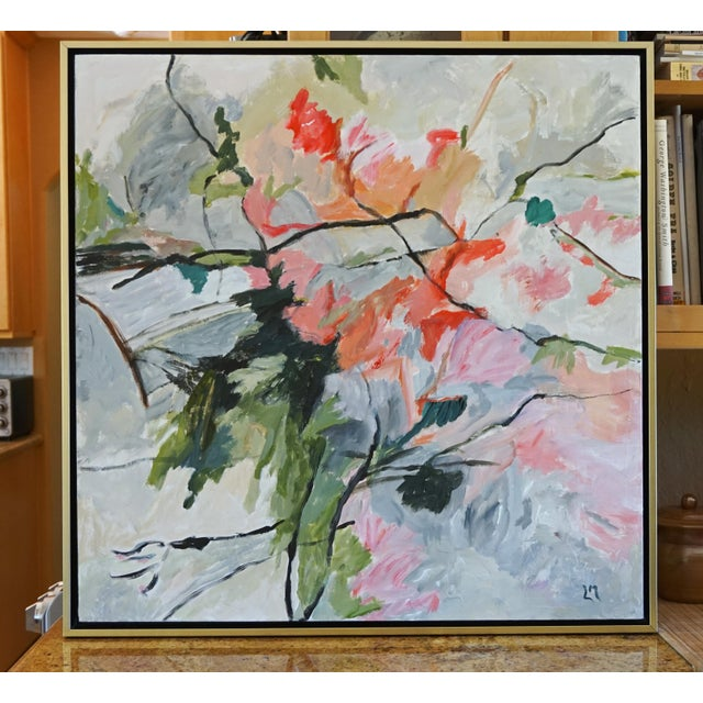 """""""Life Cycle"""" Floral Painting For Sale In Los Angeles - Image 6 of 6"""