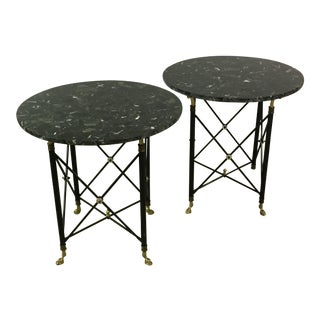 Neoclassical Marble Stone Tables - A Pair