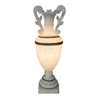 Antique Neoclassical Alabaster Table Lamp For Sale